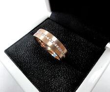 14 K Rose Gold  Men's  Diamond Wedding Band Ring by Sacred Angels