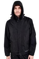 Para Hombre Ubicación Cazadora Impermeable Chaqueta Con Capucha Abrigo negra de la costura con cinta Nuevo Estilo