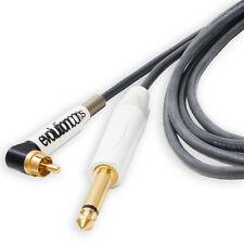 "Evolution Angled RCA Tattoo Cord to 1/4"" Jack. Silicone Twin Core MEDUSA Cable."
