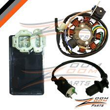 GY6 50 8 Pole Magneto Stator Coil Ignition Coil CDI Box 50cc Stock ATV Go Kart