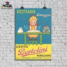 POSTER VINTAGE LIEVITO BERTOLINI  RICETTARIO MARIAROSA BIMBA TOPQUALITY GRAPHICS