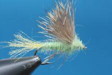 Fliegentom Trockenfliege 3 Stück Sparkle Dun hellgrün