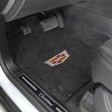 Cadillac Escalade Base w/Captns. Custom fit Carpet Floor Mats - 2015-2017 W/Logo