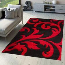 Tapis De Designer Tapis De Salon Levante Moderne Motif Floral Rouge Noir