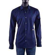 MOSCHINO COUTURE Business Hemd mit gesticktem Logo Shirt Blau Dunkelblau 05430