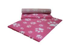 Vetfleece Antideslizante profunda pila de lana Vet Cama Roll Perro Gato Rosa con Blanco Patas