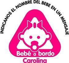 bb2)-BEBE A BORDO PERSONALIZADO VINILO PEGATINA STICKER NIÑO NIÑA COCHE ADHESIVO
