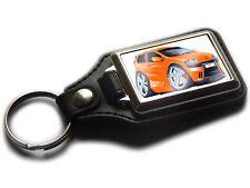 FIAT PUNTO SPORTING Mark 2 Car Koolart Leather and Chrome Keyring