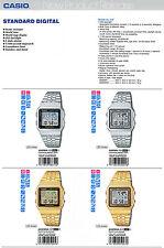 Casio montre digitale rétro world time choix de 4 A500WA A500WGA royaume-uni vendeur