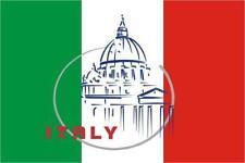 PREMIUM Aufkleber Fahne von Italien Rom Auto Motorrad car Sticker Autoaufkleber
