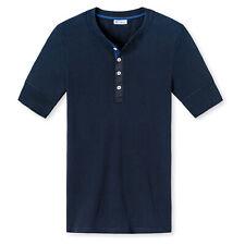 SCHIESSER Revival Herren Shirt, 1/2 Arm, Kurzarm Unterhemd, Karl Heinz - Blau