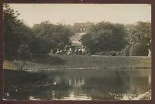 Lancs BOLTON Park Pavilion Pond RP PPC 1905