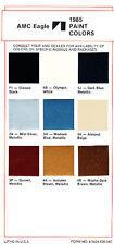 1985 AMC Eagle Exterior Color Paint Sheet