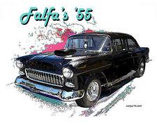 AUTO ART T-SHIRT Falfa's '55 Chevy American Graffiti