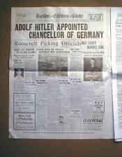 Jewish HOLOCAUST in 15 WW II Display newspaper headlines JUDAICA Jews 1933-1945