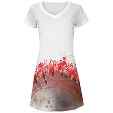 Halloween Bloody Saw Blade Massacre All Over Juniors Beach Cover Up Dress