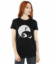 Disney mujer Nightmare Before Christmas Moon Oogie Boogie Camiseta Del Novio Fit