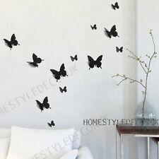 12 pcs 3D Butterfly Wall Stickers Art Decal PVC Home Decoration Shop Wedding DIY