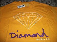DIAMOND SUPPLY COMPANY New NWT Mens Shirt Yellow Gold Large XL
