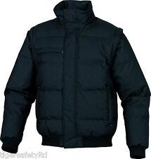Delta Plus Panoply Randers Dark Grey Mens Quilted Bomber Jacket Coat Bodywarmer