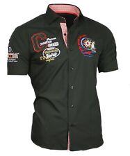 Viga reticulada de Luxe camisa polo camisa manga corta Stick camisa 82502 negro M hasta 5xl