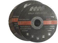 "10 x Metal Cutting Discs Flat Blade Stainless Steel 115mm Air Cut off Thin 4.5"""