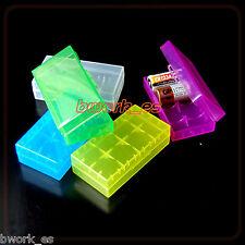 Caja Estuche CASE Pilas Baterías 18650 - CR123A - 16340 VARIOS COLORES A ELEGIR