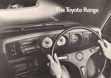 Toyota 1975-76 UK Market Foldout Brochure 1000 Corolla Carina Celica 2000 Crown