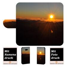 Samsung Galaxy Xcover 4 Handyhülle Tasche mit Sonnenaufgang + Foto + Text Druck
