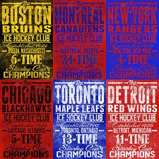 008 Vintage arte cartel de deportes hockey sobre hielo
