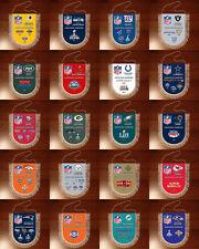 Pennants SUPER BOWL CHAMPIONS National Football League NFL USA 1966-2019