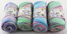 100g ALIZE Sekerim Bebe Batik Wolle fantastischer Farbverlauf Baby Kinder