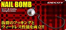 6090) DECOY. VJ-71 NAIL BOMB. Hook & Weight size variation
