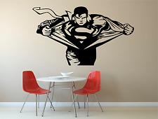 Superman Emblem Kids Adult Home Wall Decal Sticker Film DC Room SU4