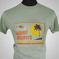 Island Hoppers Magnum PI TV Themed Retro T Shirt Green TV Classic TC Hawaii Cool