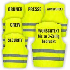 Warnweste GELB Sicherheitsweste Weste Ordner Security Crew  Junggesellenabschied