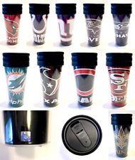Licensed 14oz Travel Tumbler Cup Mug Slider Top New - Choose Team