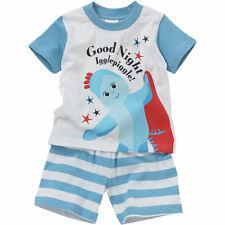 Baby Toddler Boys In The Night Garden Iggle Piggle Shortie Pyjamas Cotton Blue