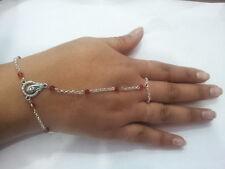 baciamano gioiello rosario corona bagno argento bracelet rosso bracciale