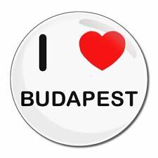 I Love Budapest-tondo Specchio in vetro compatta 55mm/77mm badgebeast