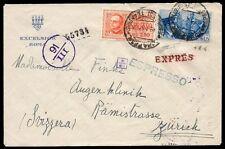REGNO 1941 - 2,50 L. ESPRESSO+1,25 Lire n.E16+ n.457 FRATELLANZA ROMA X SVIZZERA