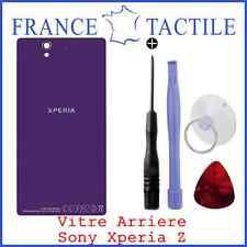 CACHE BATTERIE VIOLET pour SONY XPERIA Z LT36h L36h Avec Logo + Adhésif + Outils