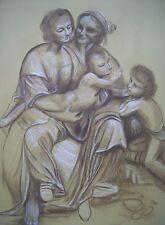 DAVID ALDUS ORIGINAL LEONARDO DA VINCI  VIRGIN CHILD ST ANNE BURLINGTON PAINTING