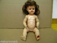 HERZMARKE BRUNO SCHMIDT beschäd.STEHPUPPE Gr50 Zelluloid Celluloid Puppe Perücke