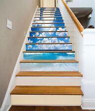 3D Sea Cloud  1 Stair Risers Decoration Photo Mural Vinyl Decal Wallpaper CA