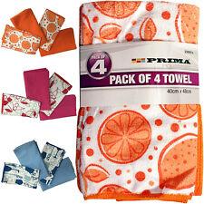 PACK OF 4 TOWEL SET BATH PURE COTTON 40CM X 48CM LUXURY SOFT ABSORBENT HOME NEW
