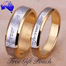 Forever Love Ring Silver/ 18K Gold Filled Rings Set Wedding Engagement Men Women