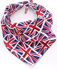 Personalised - Union Jack Dog Bandana - 100% Cotton - Handmade in UK