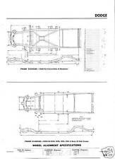 1953 54  NOS Dodge Frame Dimensions  Alignment Specs