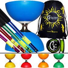Cyclone Diabolo + Coloured Metal Diabolo Sticks + UltraSpin Diablo String + Bag